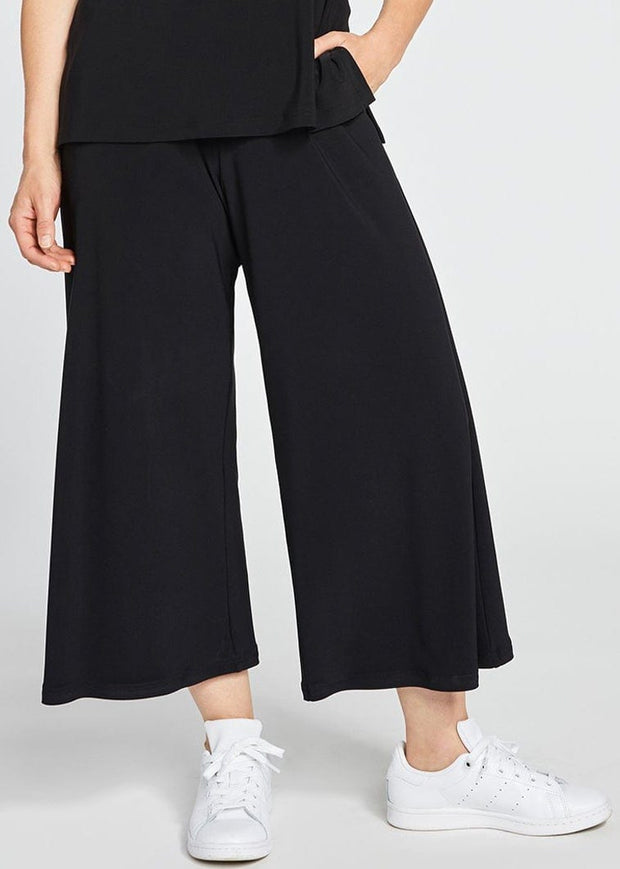 SYMPLI - WIDE LEG TROUSER CROP PANT
