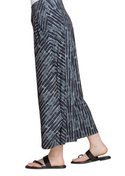 LANTERN PANT, PATTERN - PAINTED LINES, NAVY