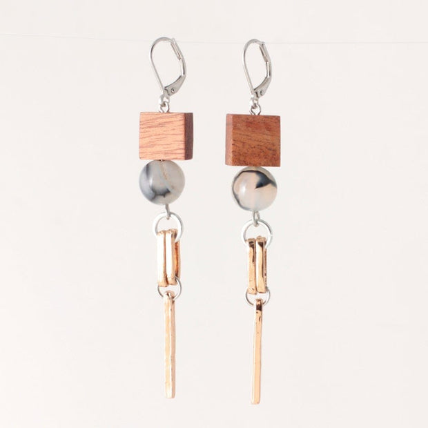 275821 Anne-Marie Chagnon Perry Earrings  Wood