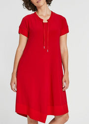 SYMPLI -  MOTION TRIM SHORT SLEEVE DRESS