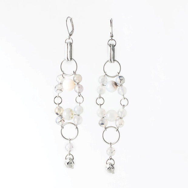 288640 Anne-Marie Chagnon Vittoria Earrings  Pewter