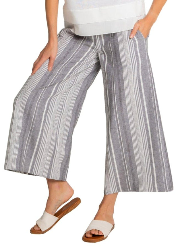 ROPE BELT STRIPED PANT