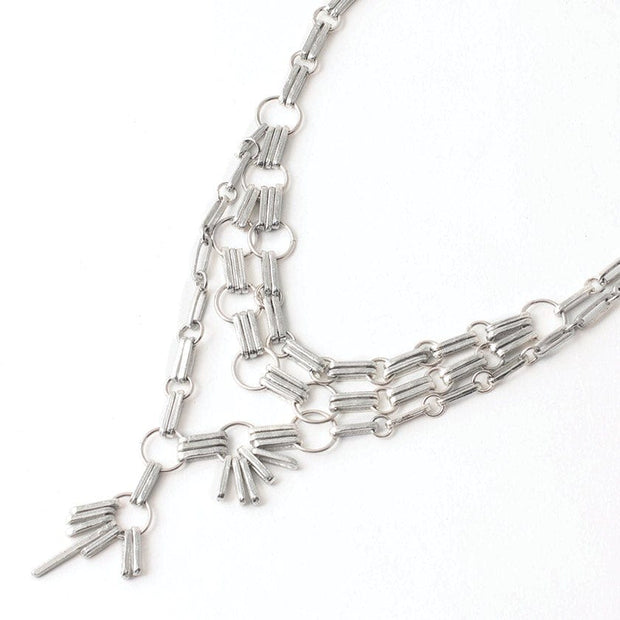 461040 Anne-Marie Chagnon Rosie Necklace  Pewter