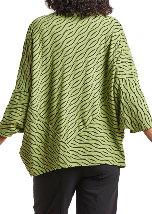 HABITAT - OVERSIZED WAVE PRINT TOP