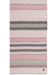 TEXTURED STRIPE ECO COTTON SCARF