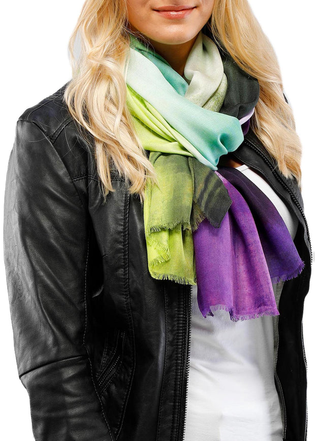EXPRESSIONISTA SCARF - LIME