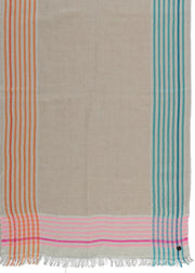 FRAAS - BRIGHT BORDER STRIPE SCARF