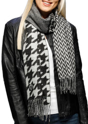 PATCHWORK HOUNDSTOOTH SCARF