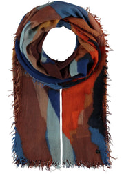 COLOURFUL SCARF - ROYAL