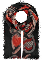 ALL THINGS HEART SCARF - RED