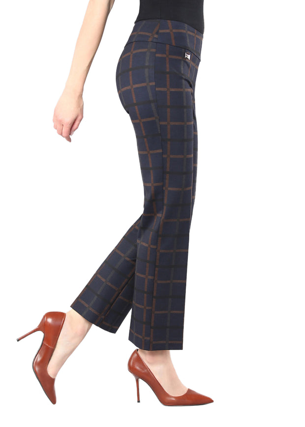 "CROWLEY CHECK 29"" ANKLE TROUSER"