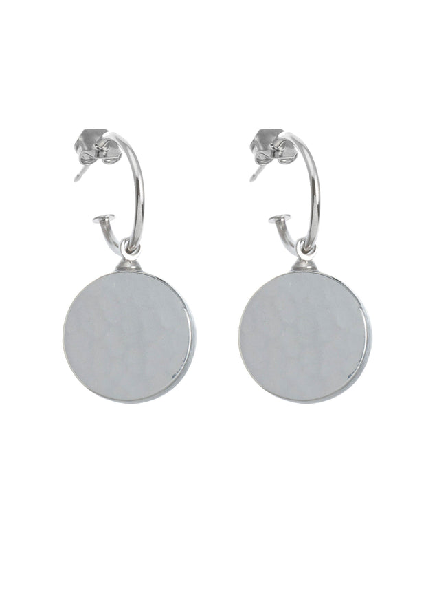 REVERSIBLE HAMMERED METAL EARRINGS