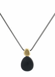 OBLONG STACKED PENDANT NECKLACE