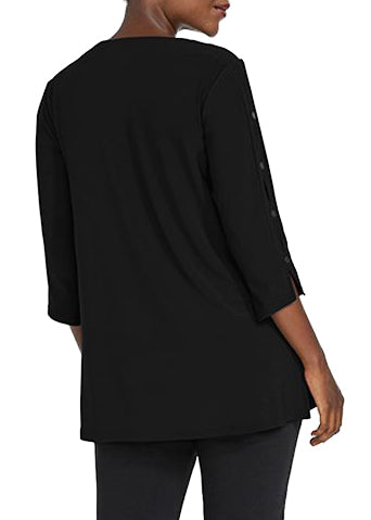 ICON TUNIC BLK, 3/4 SLEEVE - 23152Z-2