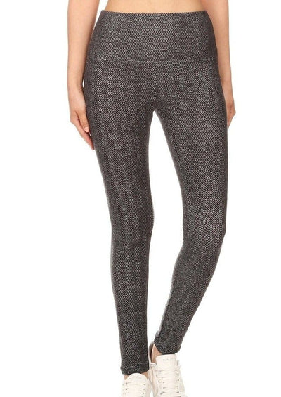 CLASSIC HARRINGBONE HIGH WAIST LEGGING