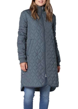 PADDED QUILT COAT - INDIA INK