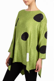 POLKA DOT OVERSIZED DOLMAN TOP