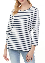 CHARLIE B - STRIPED COTTON TOP