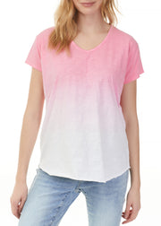 CHARLIE B - OMBRE COTTON SLUB T-SHIRT TOP