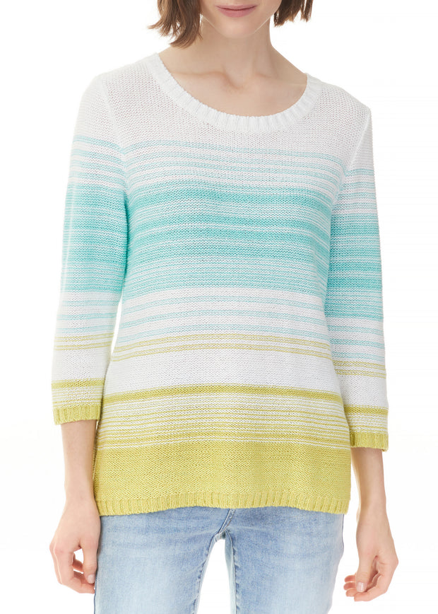 CHARLIE B - SPACE DYED STRIPED SWEATER