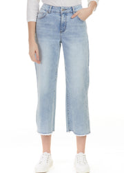 CHARLIE B - WIDE LEG RAW EDGE JEANS