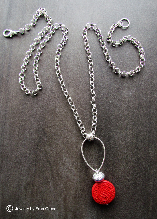 FRAN GREEN - CINNABAR NECKLACE