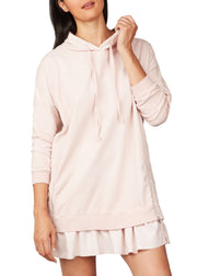 PISTACHE - RUFFLE TRIMMED SWEATSHIRT DRESS