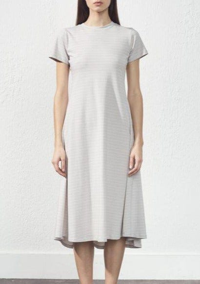 UCHUU - STRIPE SHIRT SLEEVE DRESS