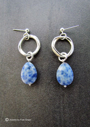 FRAN GREEN - DENIM EARRINGS