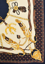 EQUESTRIAN AND LINKS SILK SCARF