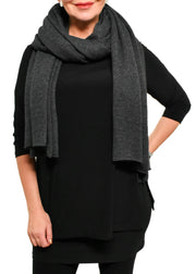 CASHMERE SHAWL - HEATHER CHARCOAL