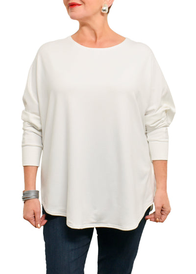 BAMBOO FRENCH BOXY TOP - IVORY