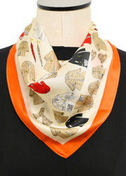 TRENCH COAT SILK SCARF