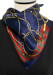 BELTS AND ROPES SILK SCARF