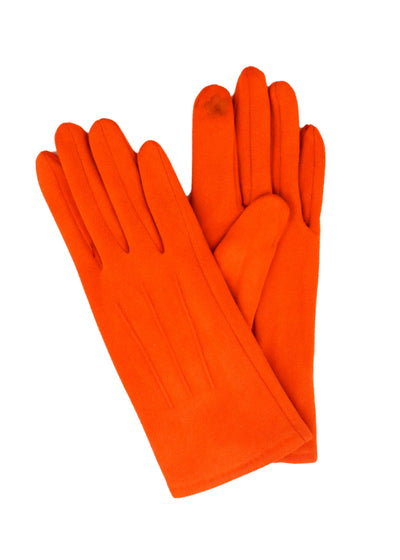 SUEDE SHORT GLOVES - RUST