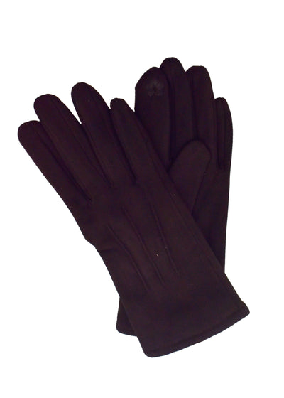 SUEDE SHORT GLOVES - BLACK
