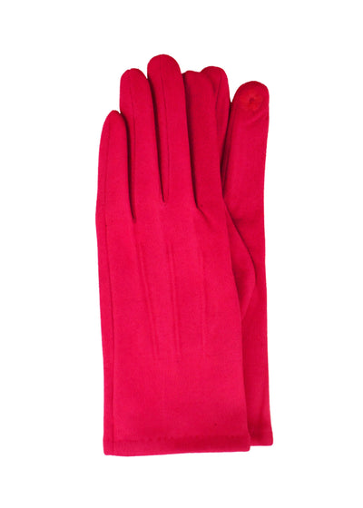 SUEDE SHORT GLOVES - FUSCHIA