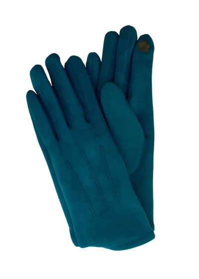 SUEDE SHORT GLOVES - TEAL