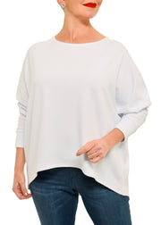 BAMBOO FRENCH SWEATSHIRT (NI) WHITE - GILMOUR