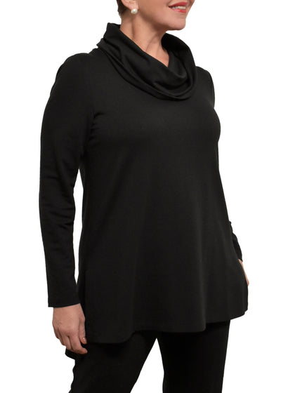 PRE ORDER - COWL NECK LOUNGE WEAR SET - BLACK
