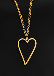 HEART CHAIN NECKLACE - GOLD