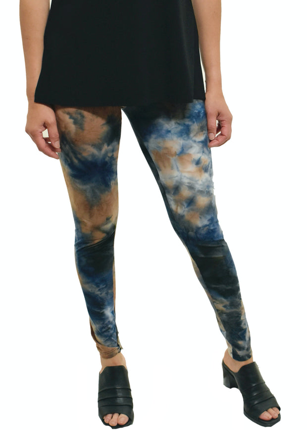 GINGER BLUE TYE DYE HIGH WAIST LEGGING