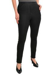 TRICOTTO - PULL ON JEAN JEGGING - BLACK