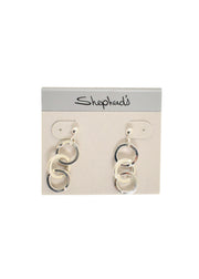 FRAN GREEN - TRIPLE ROUND LINK EARRING - 1056449