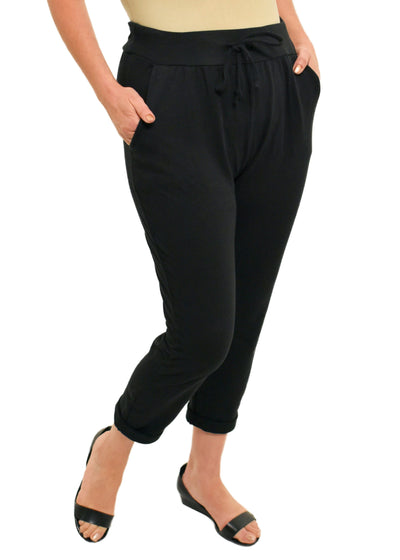 CATHERINE LILLYWHITES - ROLLED CUFF JOGGER - BLACK - 1056466 - ITO9348BK