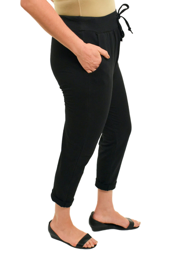 ROLLED CUFF JOGGER - BLACK