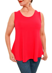 REVERSIBLE BAMBOO TANK - T98V - RED
