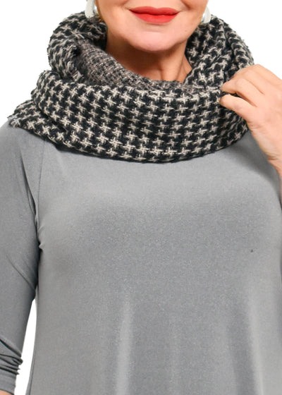INFINITY HOUNDTOOTH SCARF