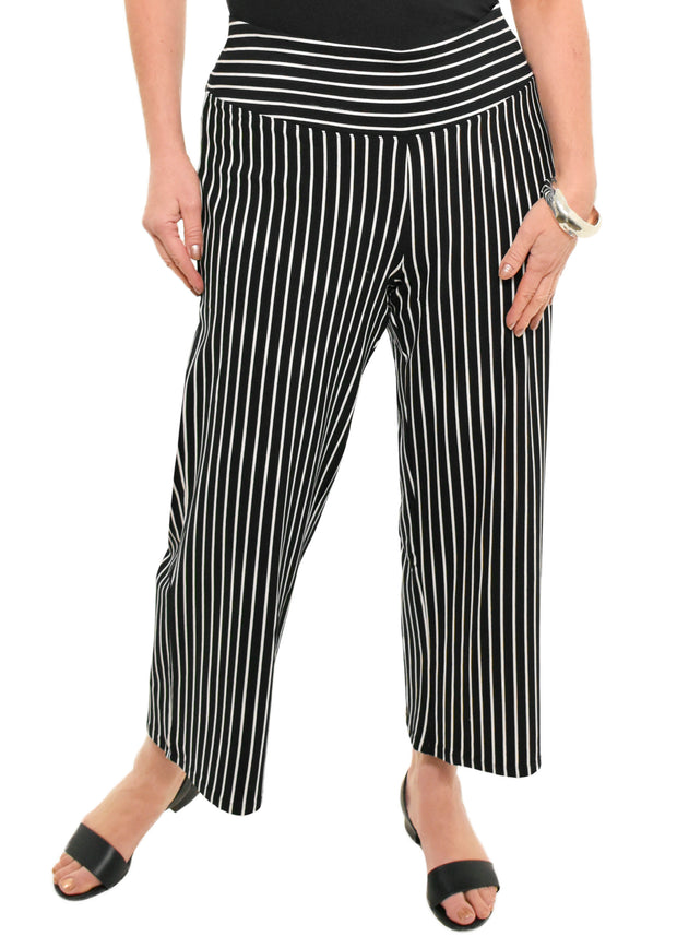 HABITAT - PULL ON STRIPED FLOOD PANTS