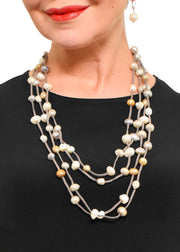 WANTED - 4 STRAND ULTRASUEDE LONG NECKLACE